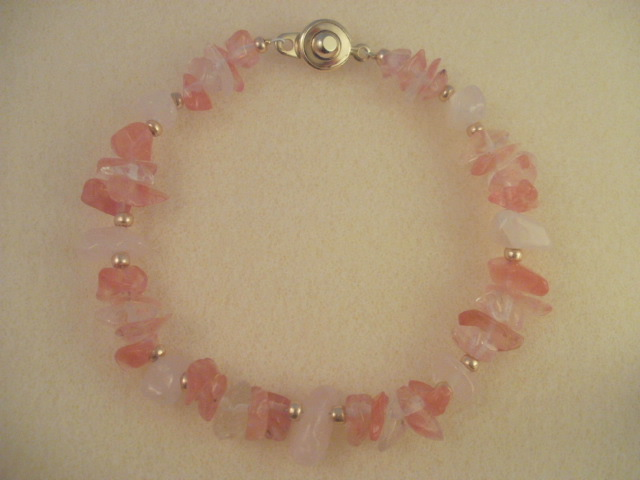 Cherry Quartz & Rose Quartz